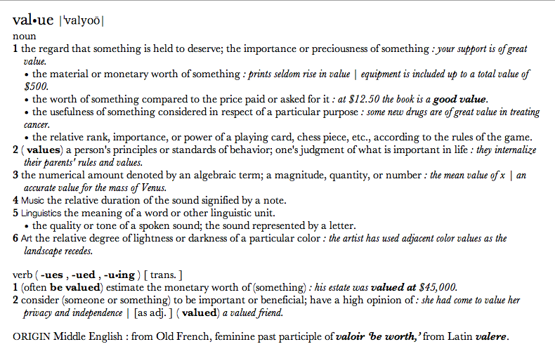Define Value In Art : Art value working notes critical practice chelsea